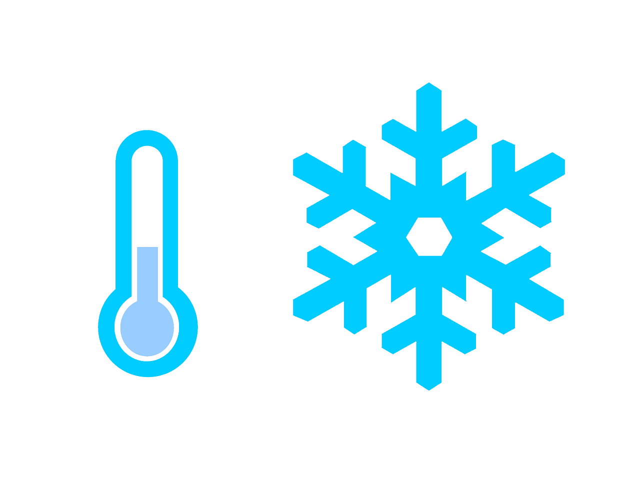 Termometr, zimowa temperatura